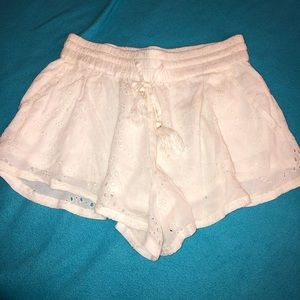 White flowy shorts